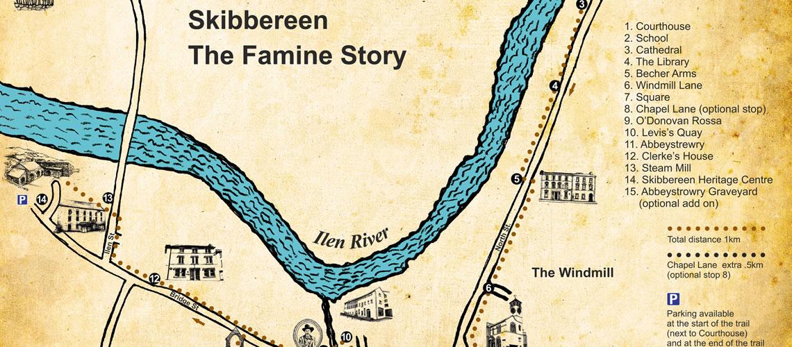 Skibbereen Ireland Map.Famine Story App Skibbereen Heritage Centre