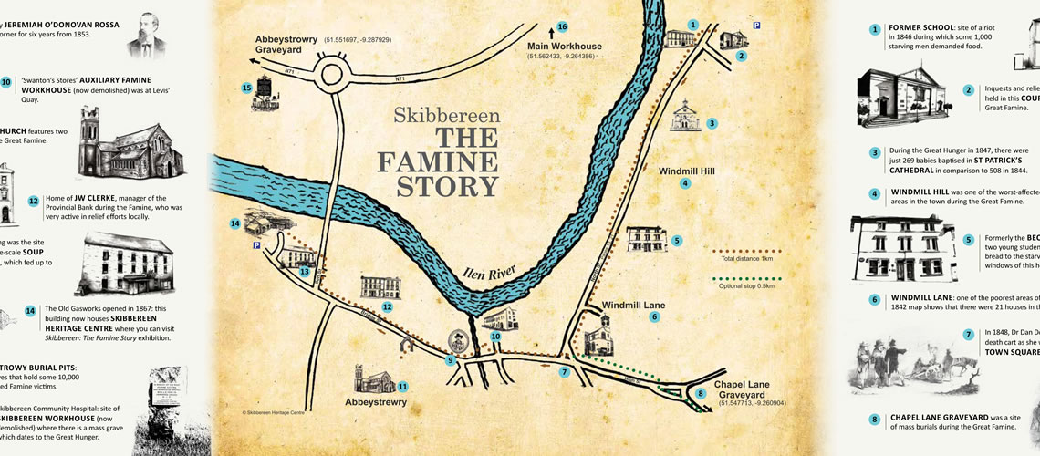 Skibbereen Ireland Map.Great Irish Famine Sites Skibbereen Heritage Centre